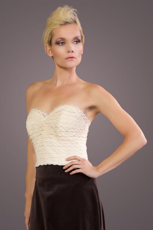 Sweetheart Corset - Organic Cotton Lace