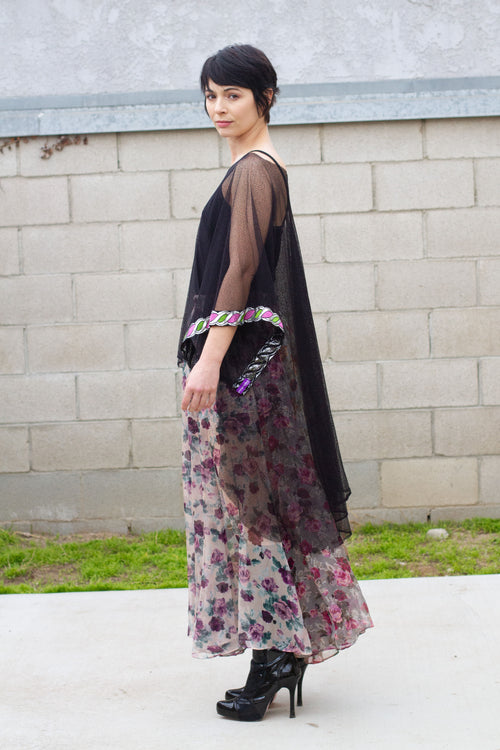 Beautiful Multi-Color Boho Chic Floral Maxi Skirt