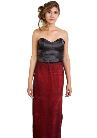 Freedom to be Dramatic - Organic Cotton Velvet Dress