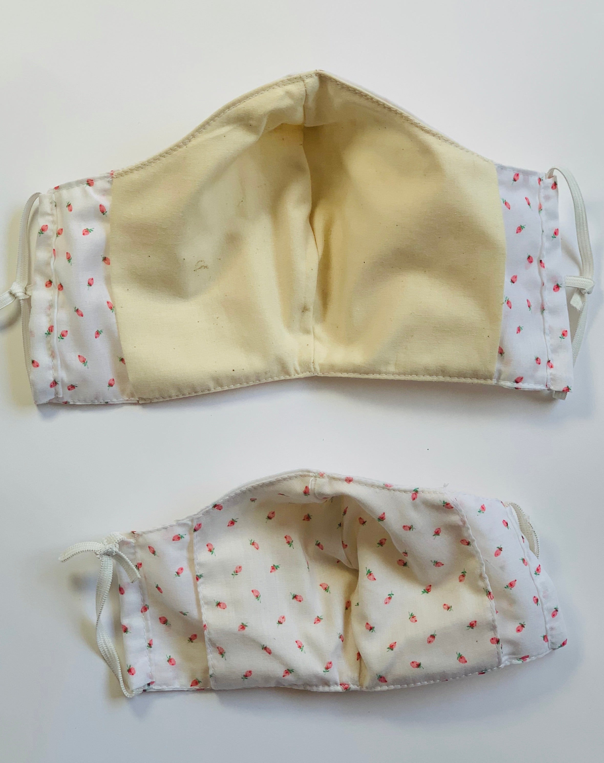 Mask made with vintage fabric and muslin - child only left