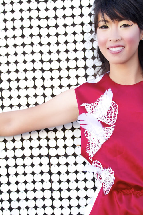 Dance and Fly Red and White Top