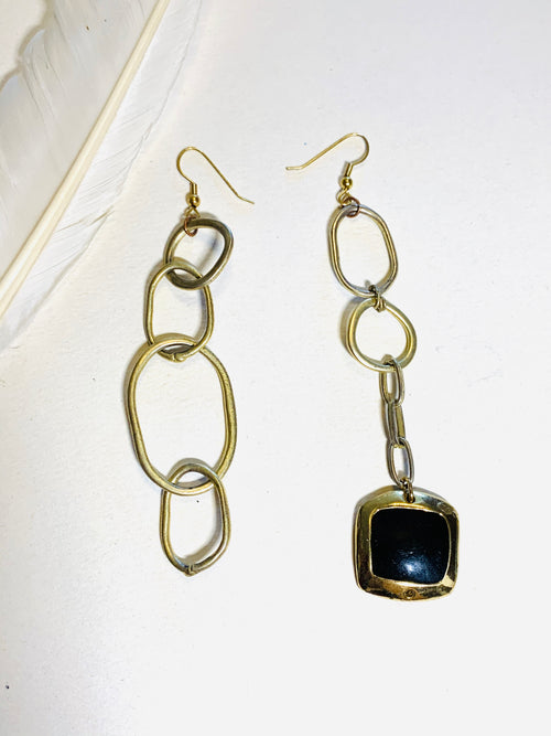 Metal Asymmetric Earrings