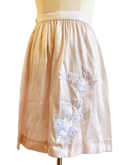 Light Pink Satin A-Line Skirt