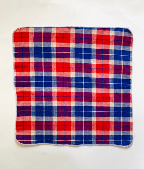 Plaid pocket square or handkerchief