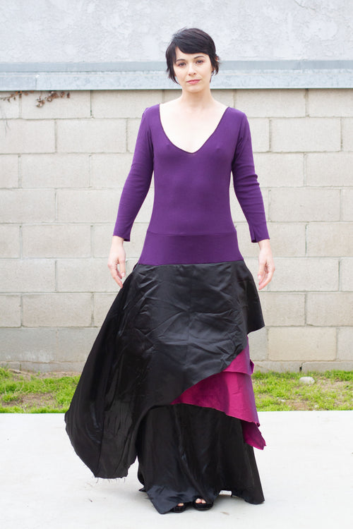 Up-cycled Purple Theatre Dance Dress