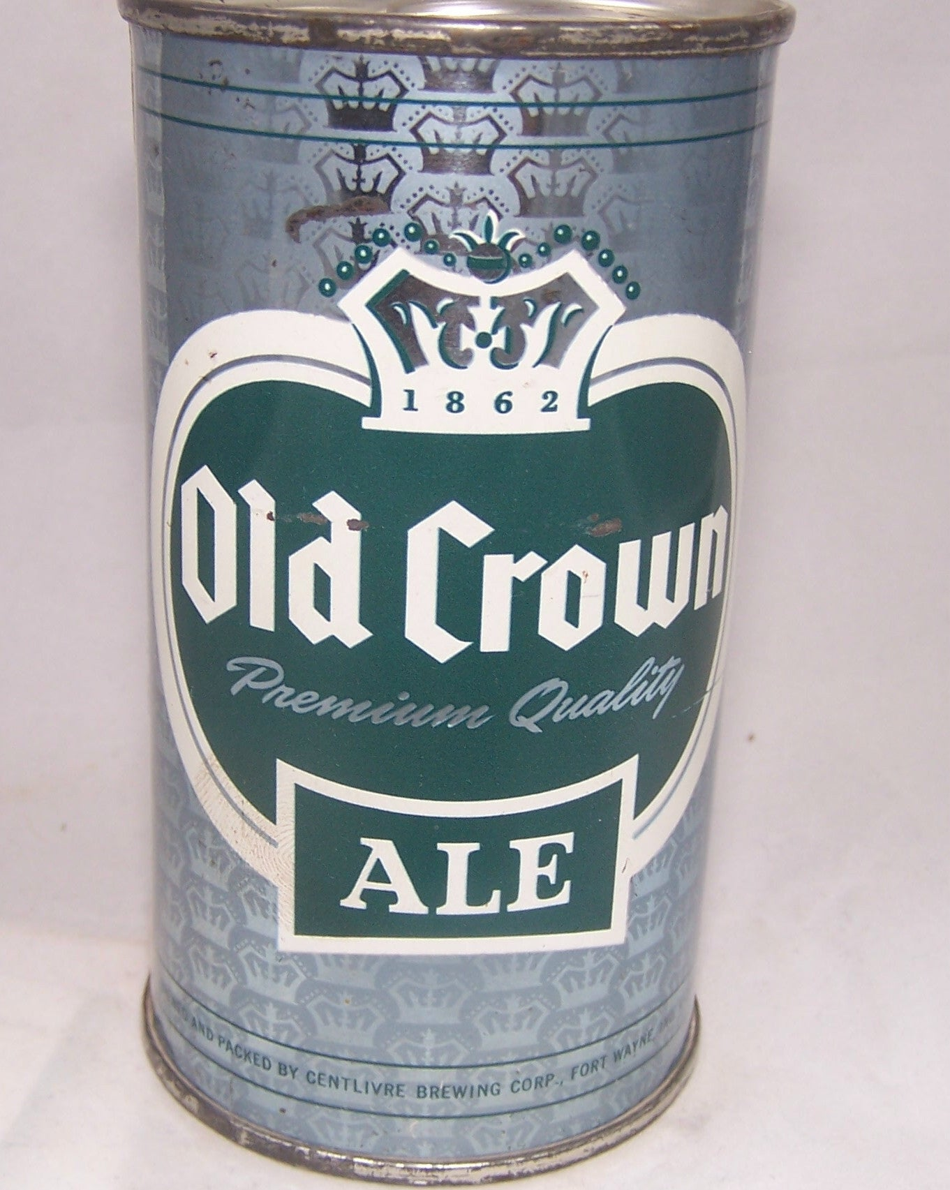 Old Crown Ale set can (Light Blue) USBC 104-40, Grade 1 Sold on 09/25/16