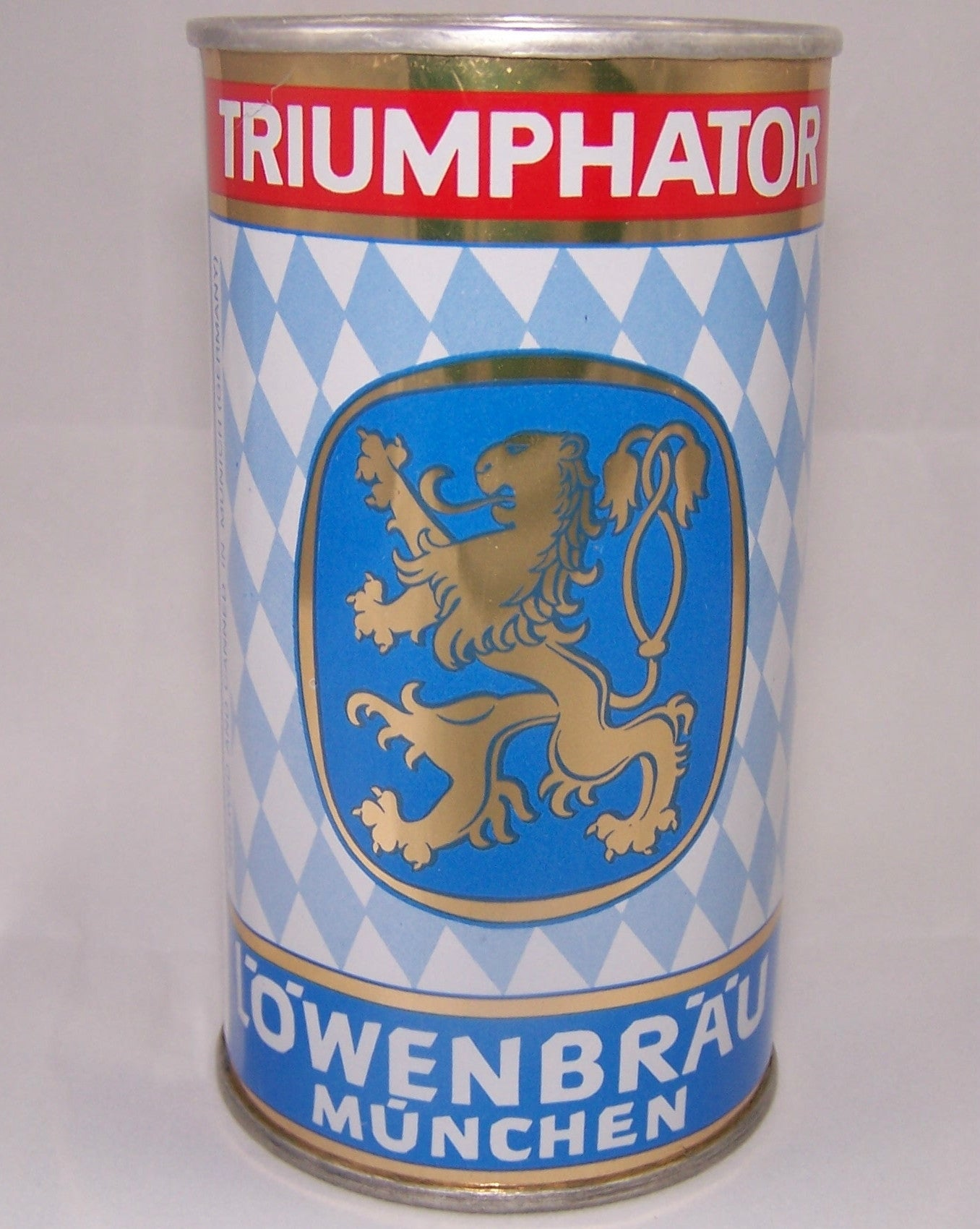 Lowenbrau Munchen Triumphator, Rolled can, Grade A1+ Sold 3/10/15