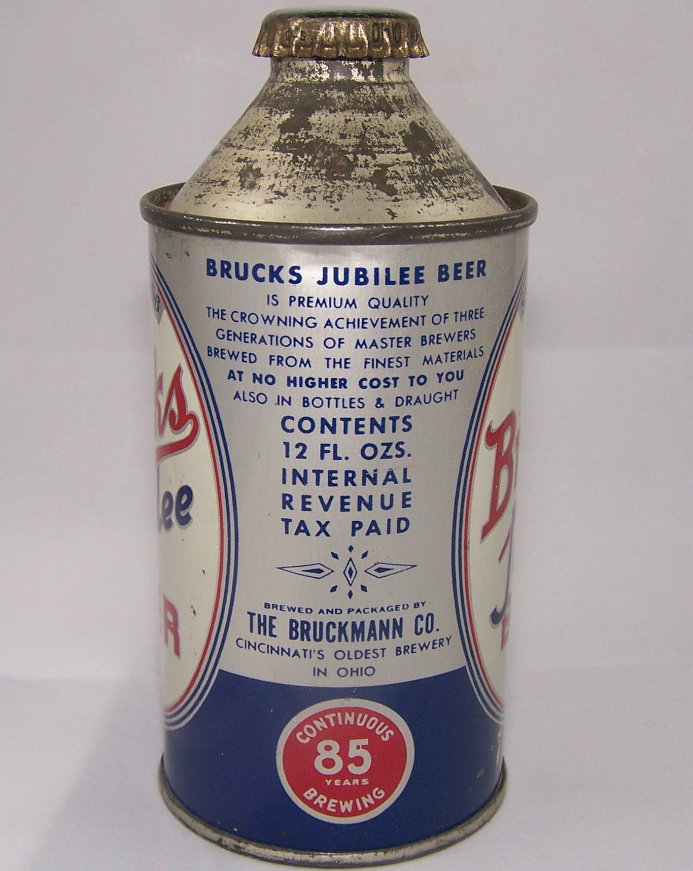 Brucks Jubilee Beer, USBC 154-28, Grade 1 to 1/1+ Sold on 4/1/15