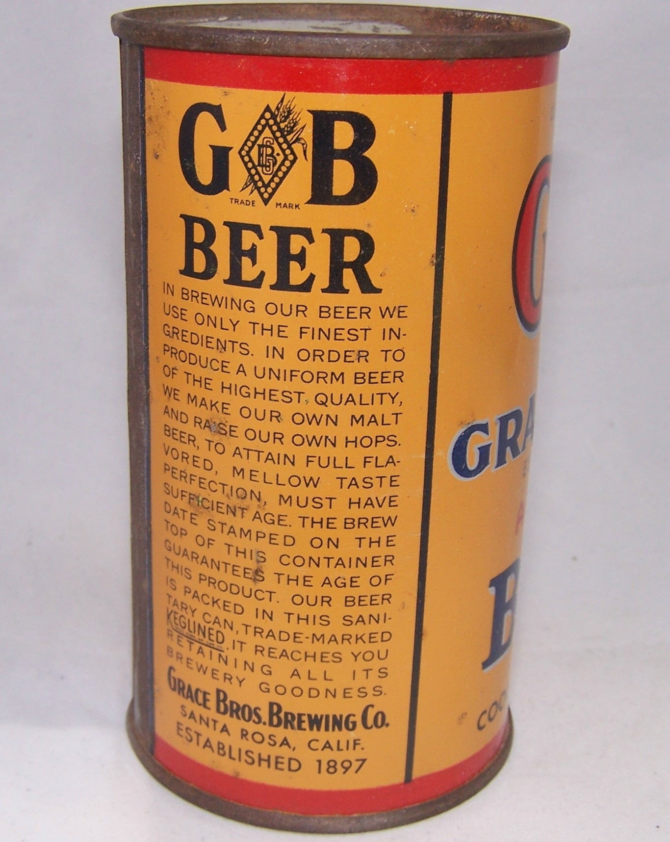 Grace Bros Age Dated Beer, Lilek # 313 Grade 1- Sold on 10/24/16