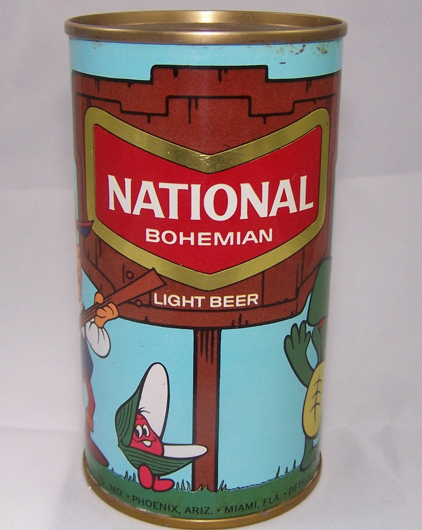 National Bohemian Cartoon Can, USBC II 97-5, Grade 1/1+ Sold!!