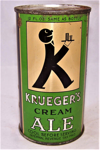 Krueger's Cream Ale (Baldy) Lilek # 459, and USBC 89-25, SOLD ON  03/31/19