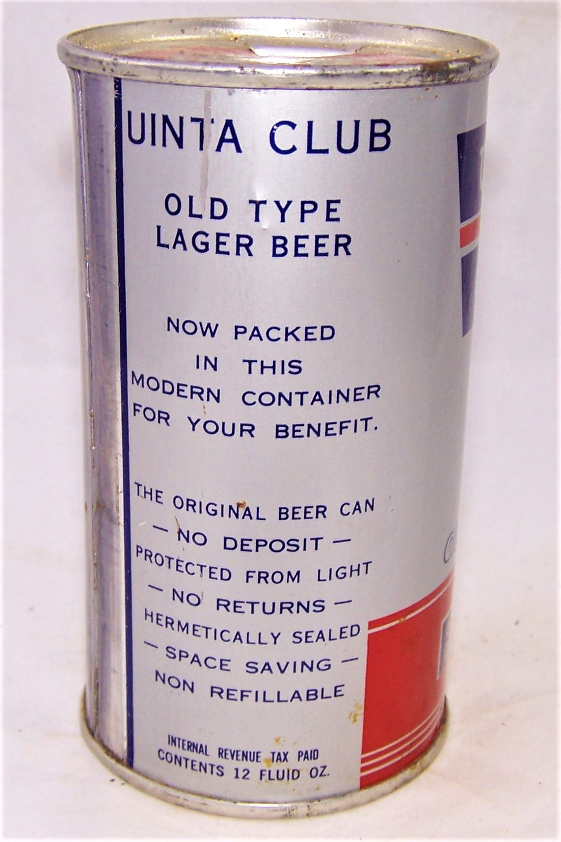 Uinta Club Old Type Lager Beer, Lilek # 823, and USBC 142-06, Grade 1/1+ Sold out