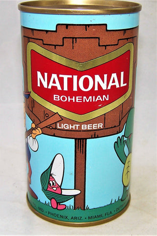 National Bohemian Cartoon Can, USBC II 97-05, Grade 1/1+