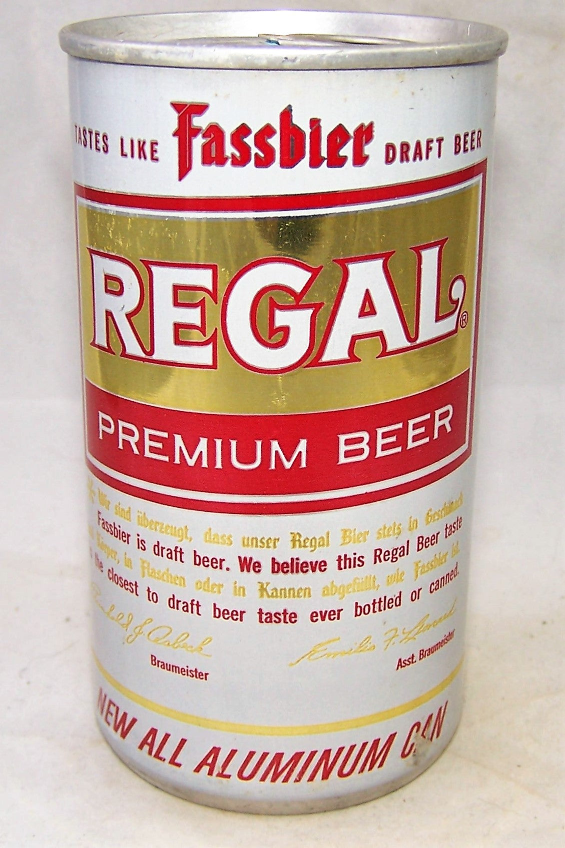 Regal Premium Beer, Straight Aluminum, USBC II 113-21, Grade 1/1+