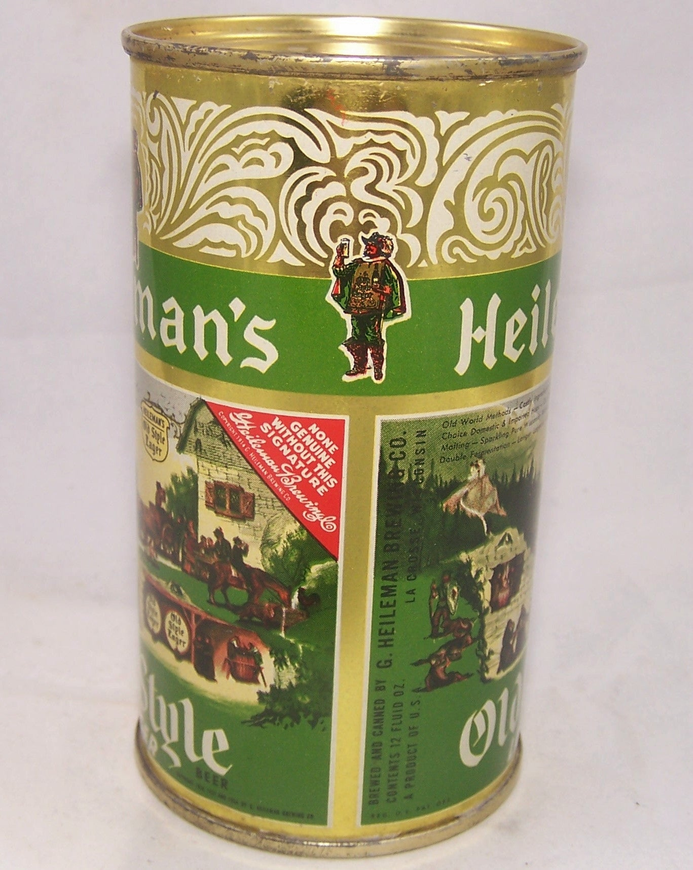 Heileman's Old Style Lager Beer USBC 108-14, Grade A1+ Sold on 12/18/16