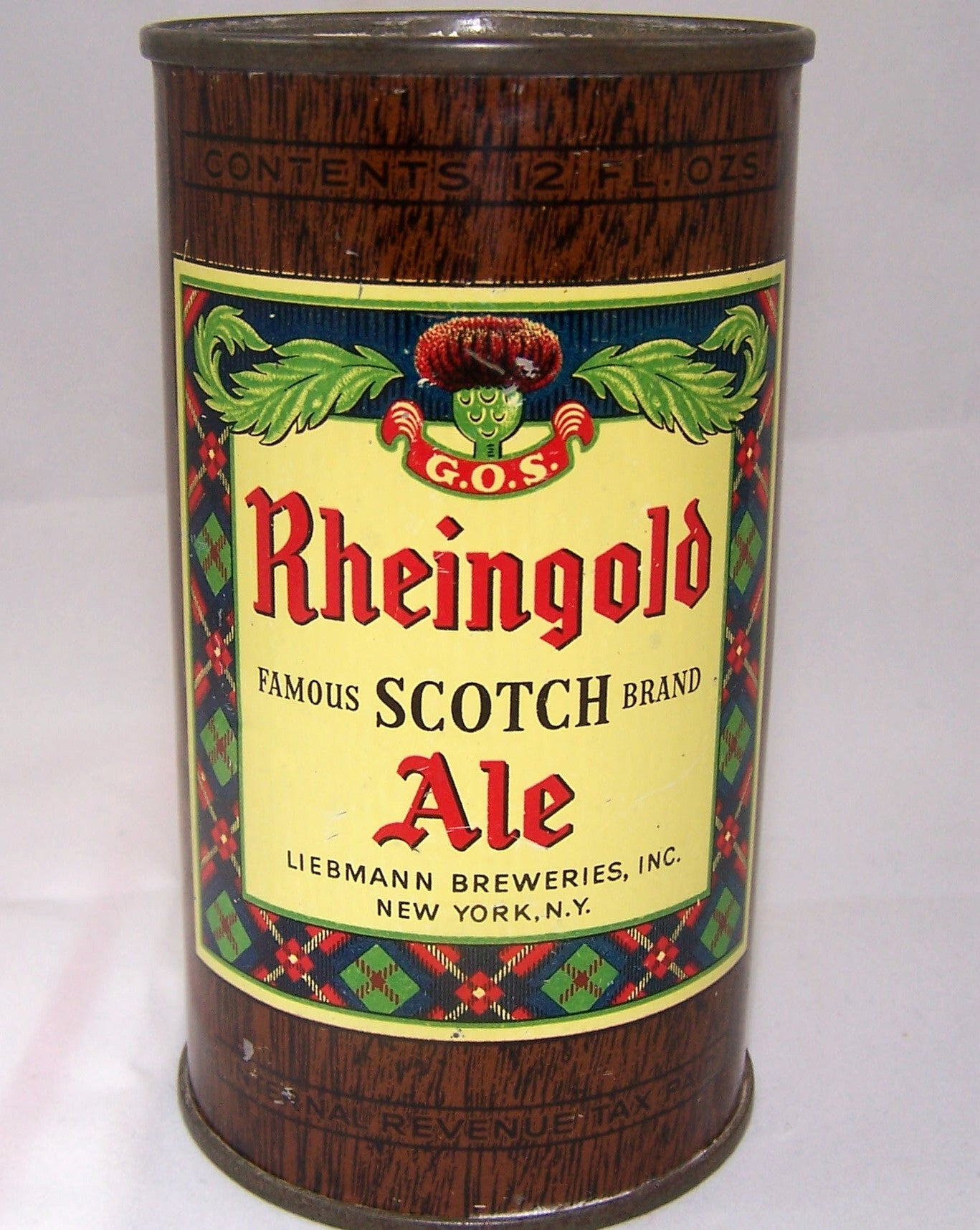 Rheingold Scotch Ale (IRTP) Single face, USBC 123-25, Grade 1/1+
