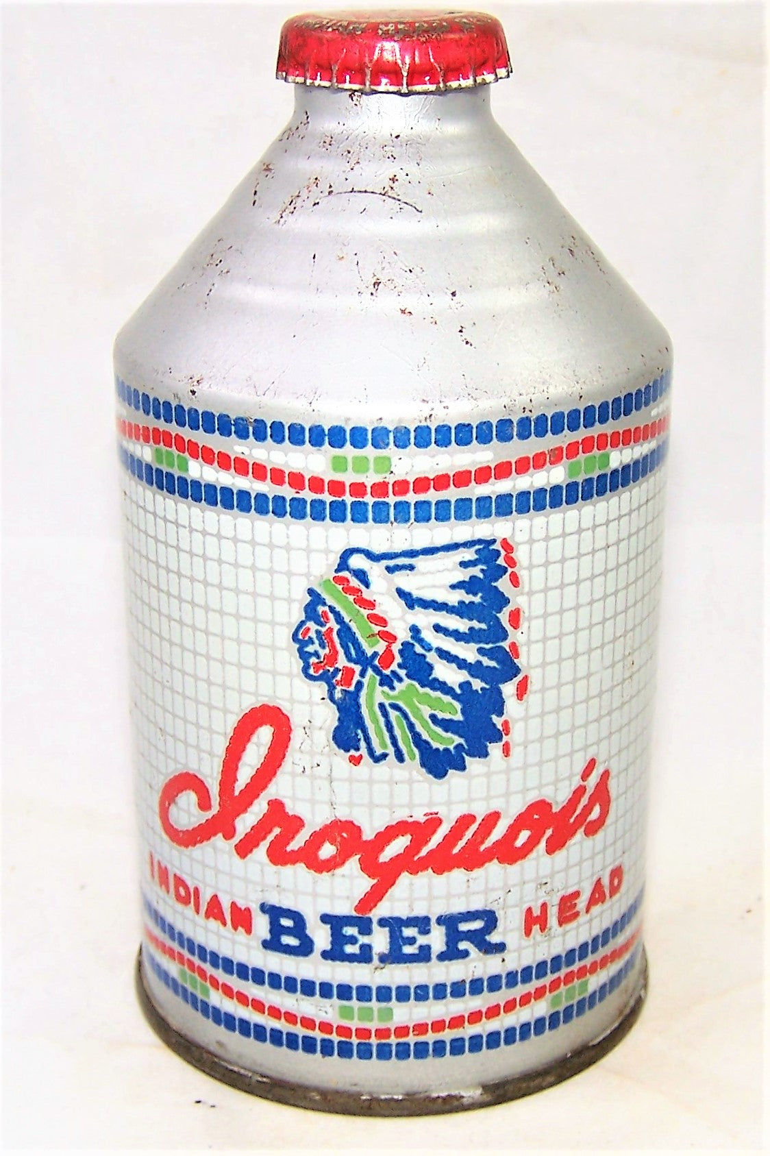 Iroquois Indian Head Beer, USBC 195-30, Grade 1/1- Sold on 5/24/19