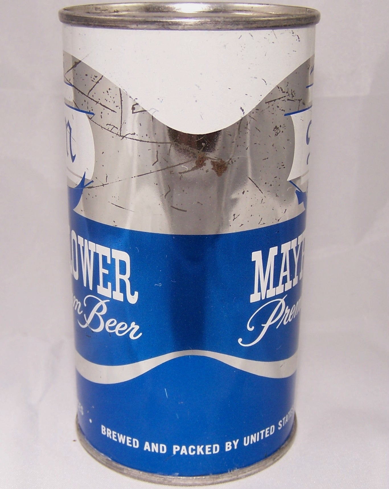 Mayflower Premium Beer, USBC 94-40, Rolled can, Grade 1-