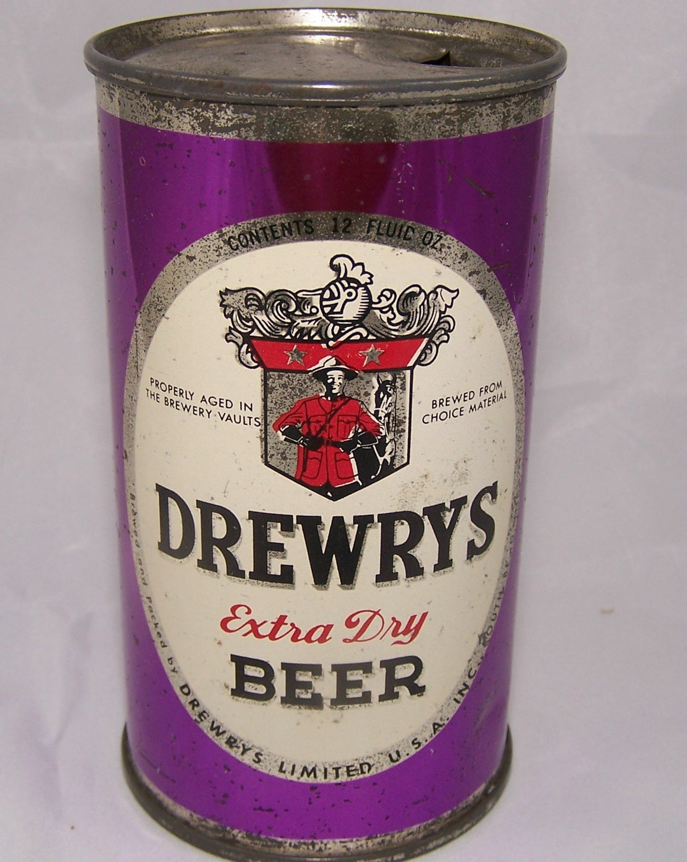 Drewrys Oval sports can with Silver Characters, Grade 1-