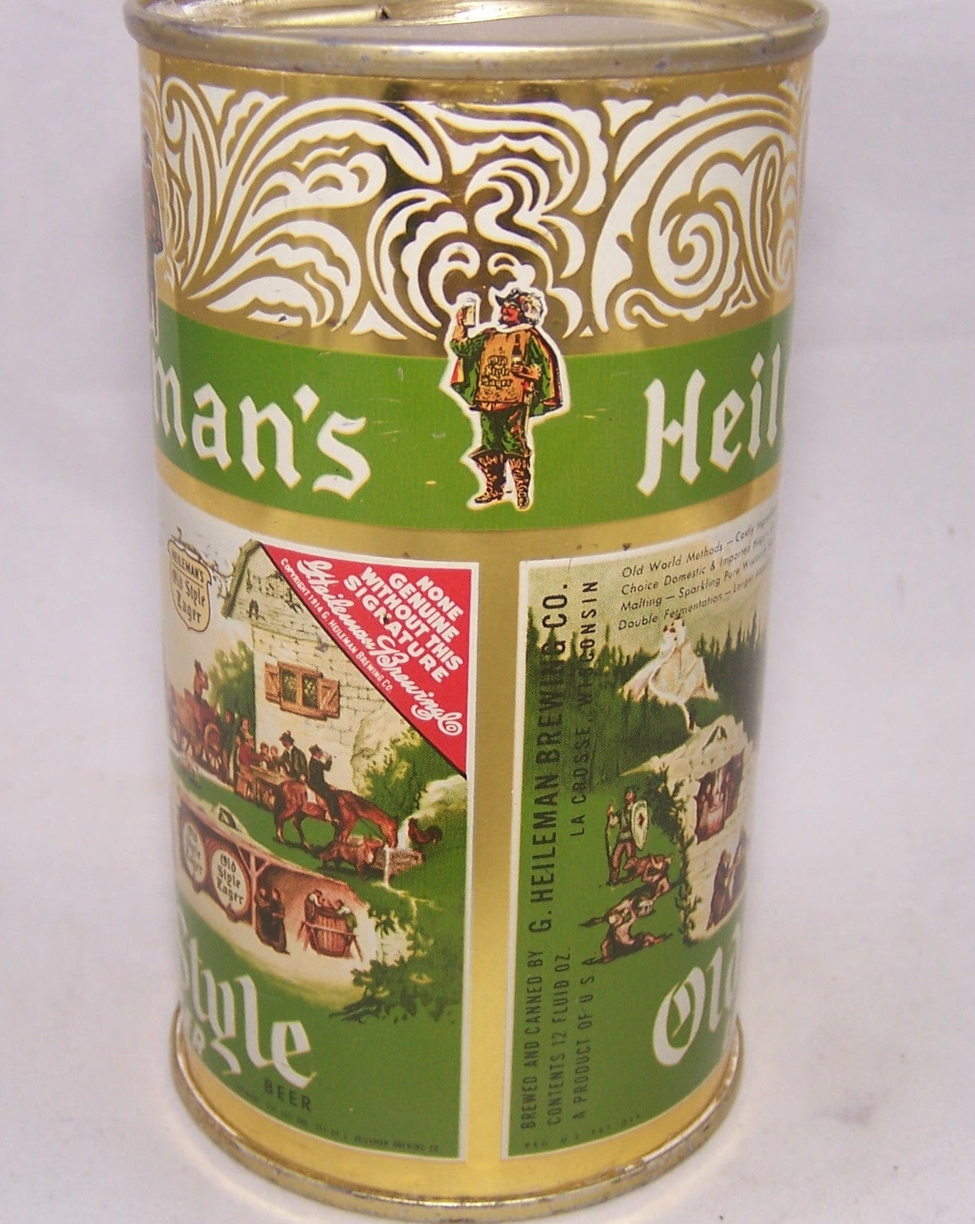 Heileman's Old Style Lager, USBC 108-14. Grade A1+ Sold on 01/14/17