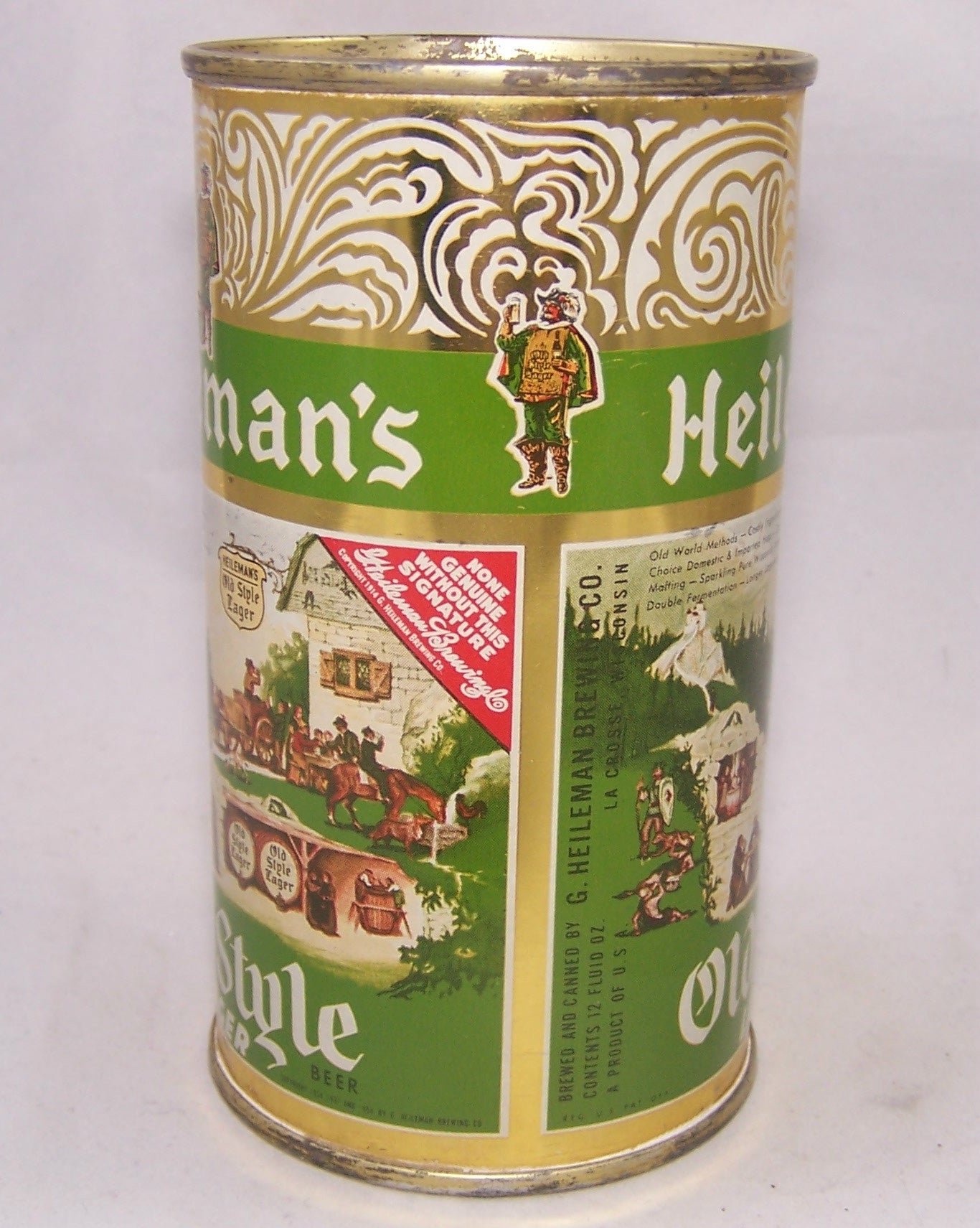 Heileman's Old Style Lager, USBC 108-14, Grade 1 or better  Sold on 12/26/16