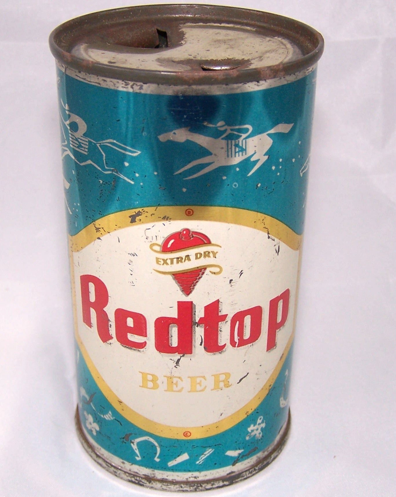 Red Top Beer (Horse Racing) Blue can, USBC 120-9, Grade 1/1- Traded 7/11/15