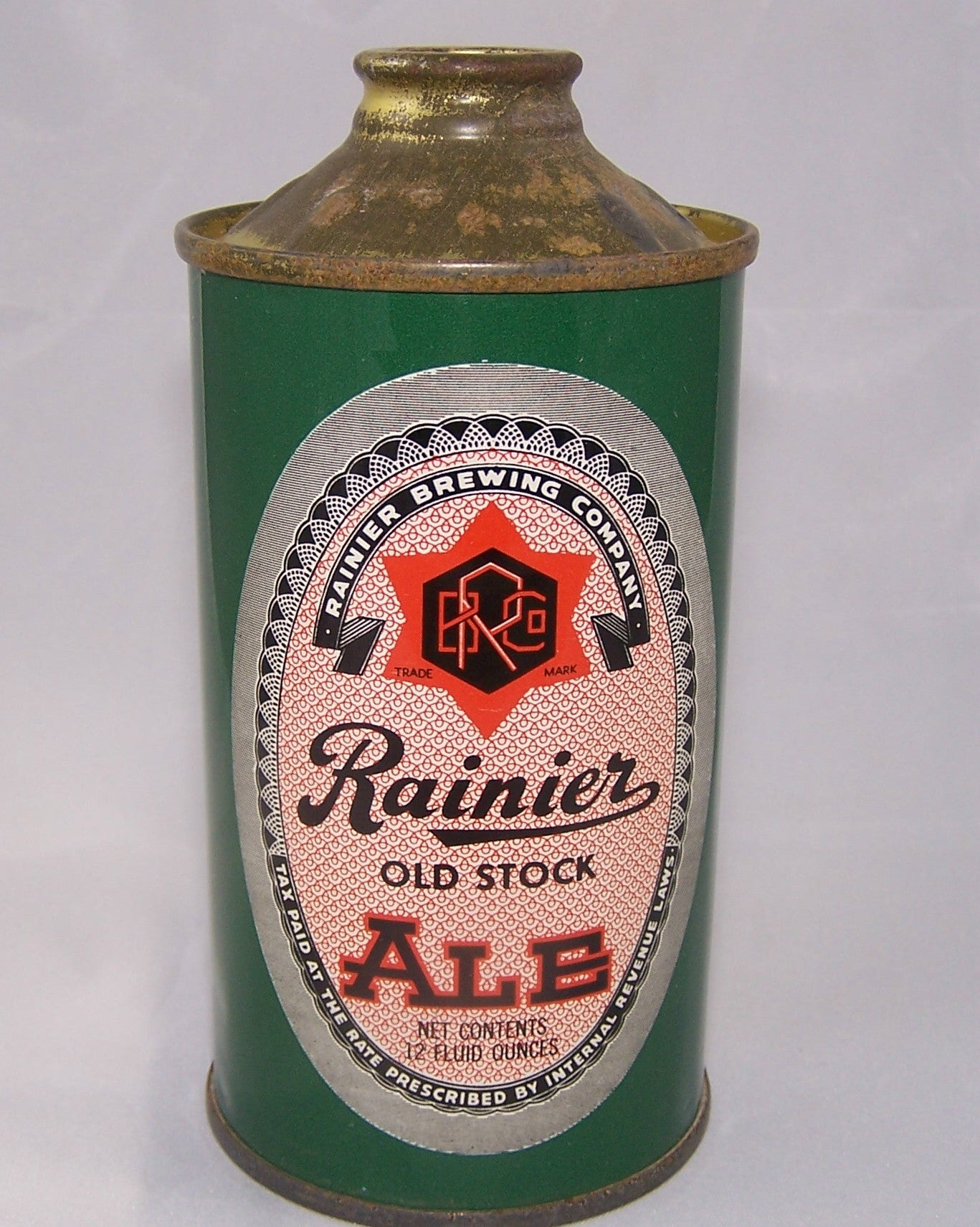 Rainier Old Stock Ale. USBC 180-4, Grade 1/1+ Sold on 08/25/16