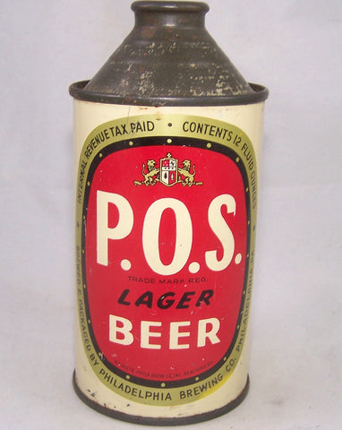 P.O.S Lager Beer, USBC 179-20, Grade 1/1-