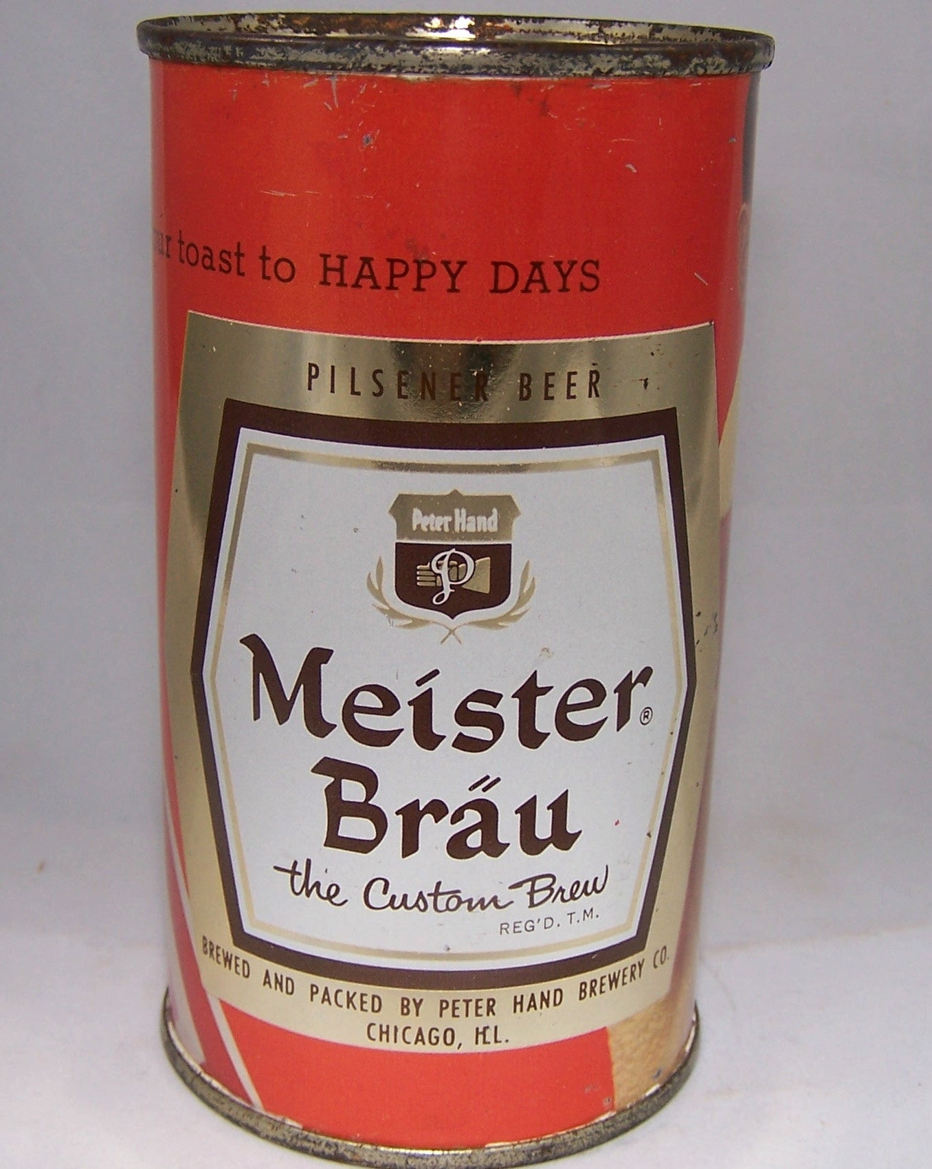 Meister Brau Happy Days The Custom Brew, (Beachball) USBC 98-17, Grade 1 to 1/1+ Sold on 02/02/16