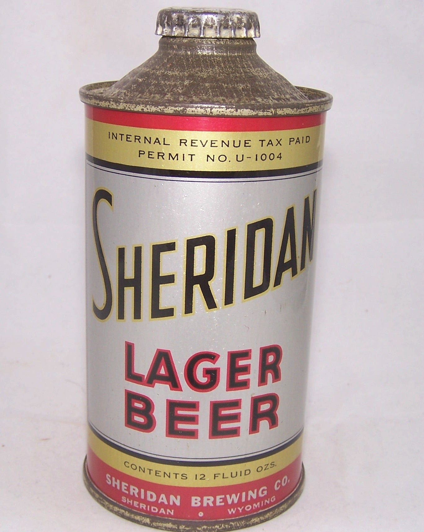 Sheridan Lager Beer, USBC 185-12, Grade 1/1+ Sold on 07/28/17