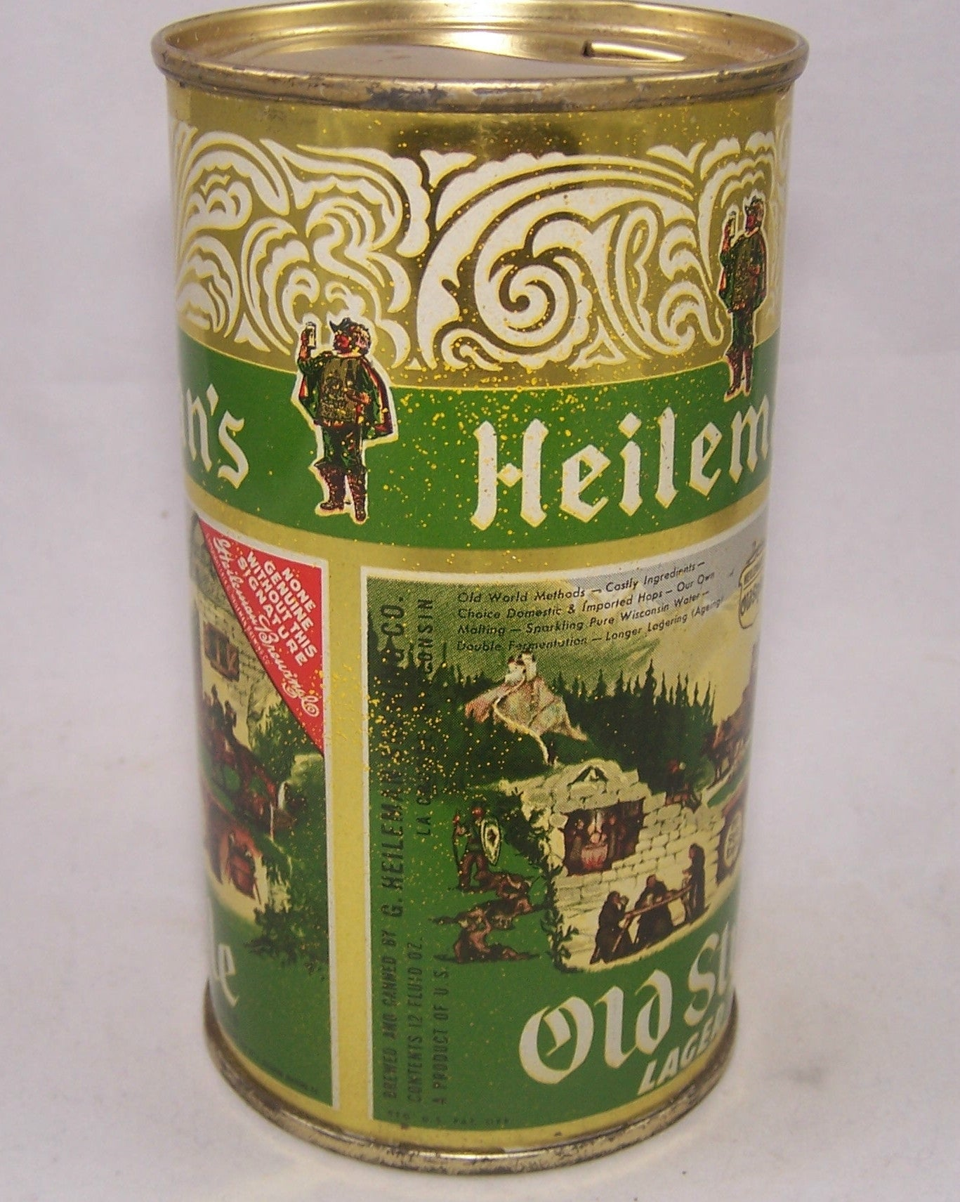 Heileman's Old Style Lager Beer, USBC 108-14, Grade 1 to 1/1+ Sold on 05/23/17