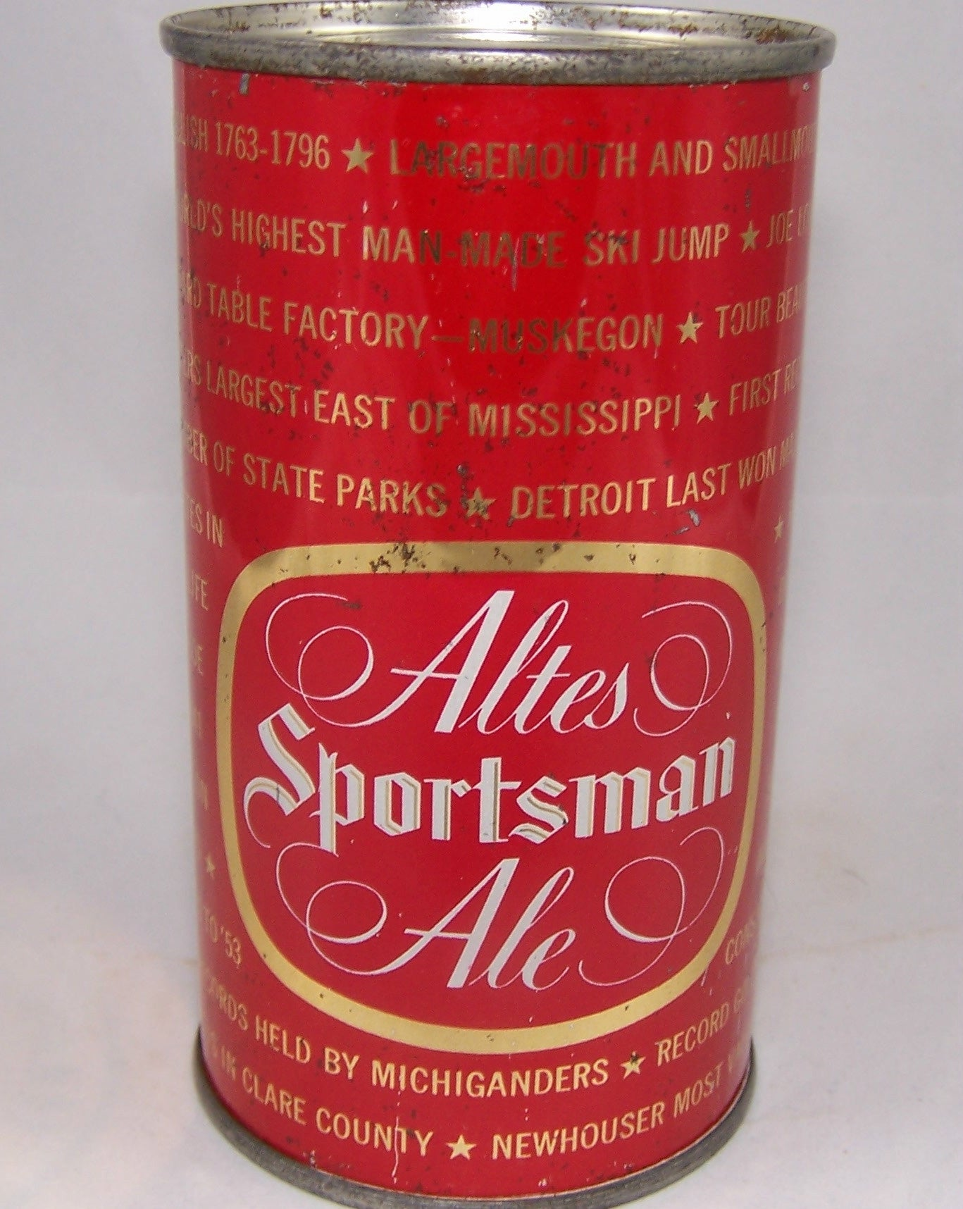 Altes Sportsman Ale (Michigan Ruled by English) USBC 30-27, Grade 1/1- Sold n 11/30/15