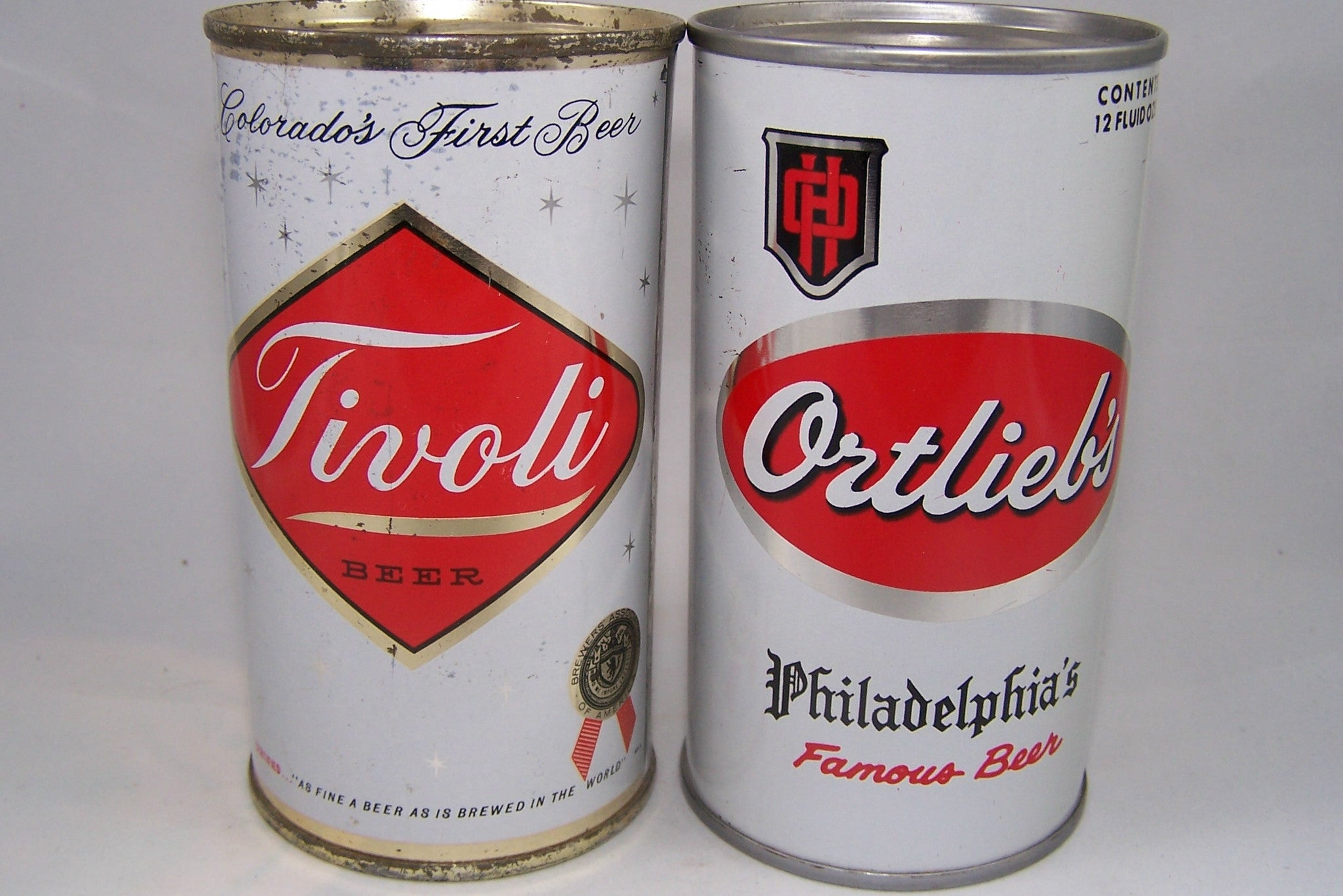 Tivoli Beer and Ortlieb's Beer, Two for one price. Grade 1- and grade 1/1+