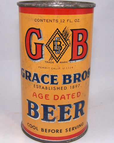 GB Grace Bros. Age Dated Beer, Lilek # 315, Grade 1- Sold on 9/23/15
