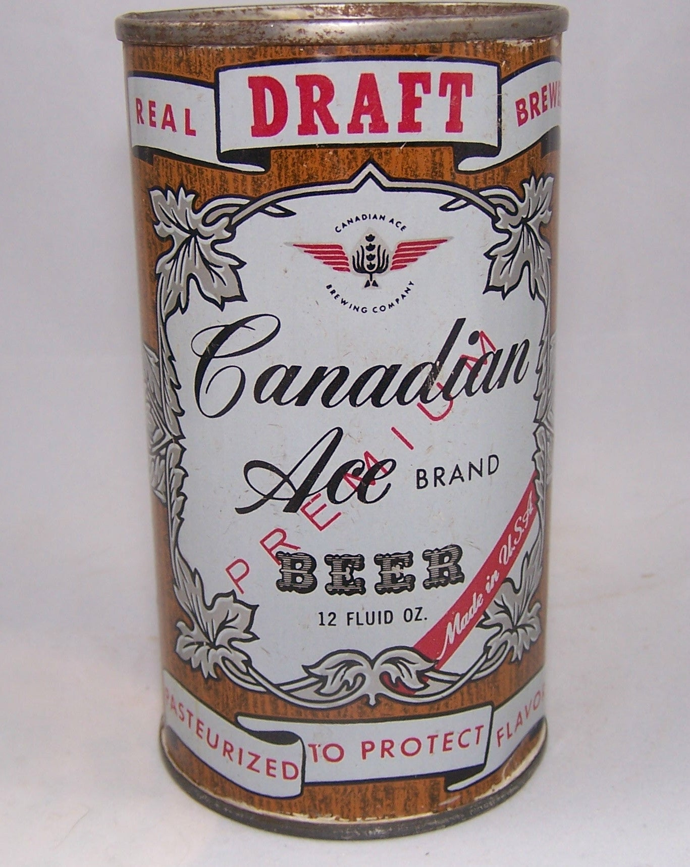 Canadian Ace Draft Beer (Enamel) USBC 48-18, Grade 1/1+Sold 10/6/15