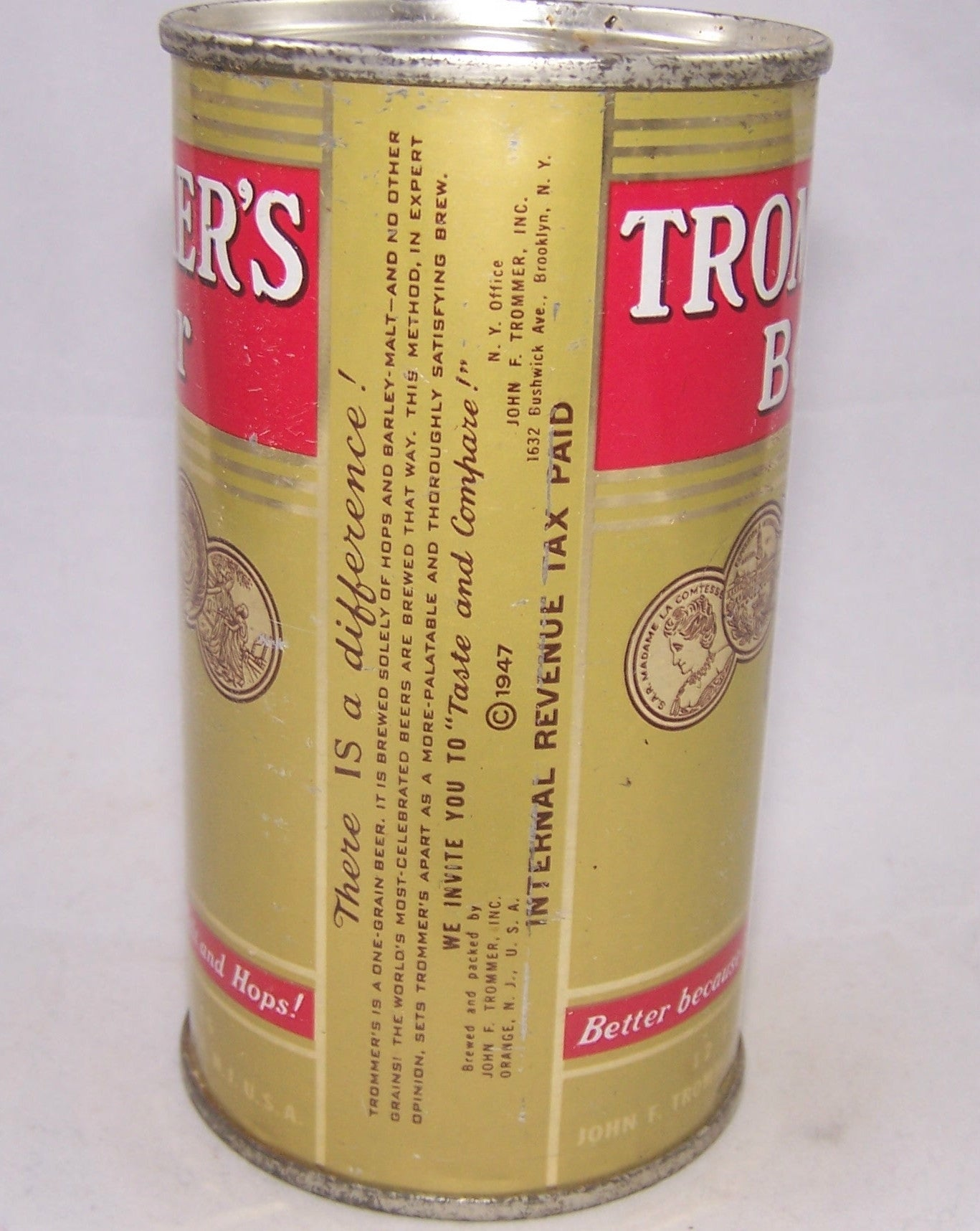 Trommer's Beer, USBC 139-37, Grade 1 to 1/1+ Sold on 03/26/17