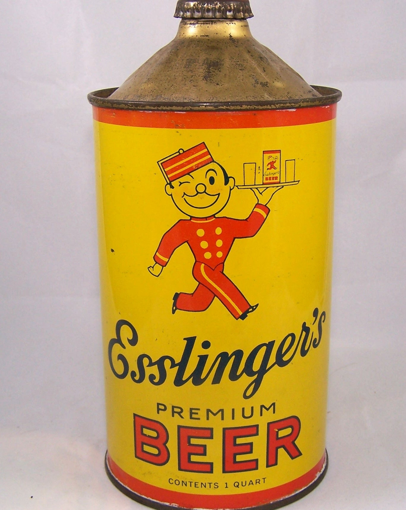 Esslinger's Premium Beer, USBC 208-14, Grade 1 to 1/1+ Donated to B/G show
