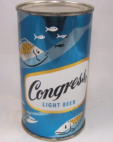 Congress Light Beer, (Fish) USBC 50-21, Grade 1 to 1/1+ Rolled Sold on 10/10/15