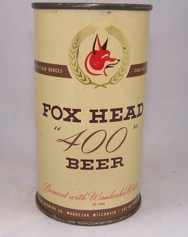 Fox Head 400 Beer, USBC 66-8, Grade 1/1+