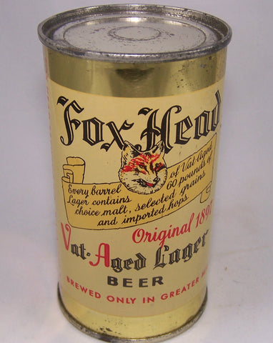 Fox Head Vat Aged Lager Beer, USBC 66-15, Grade 1- sold