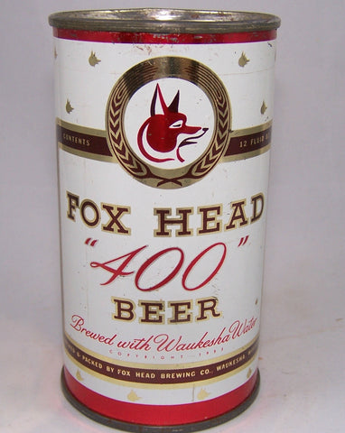 "Fox Head ""400"" Beer, USBC 66-9, Grade 1 to 1/1+"