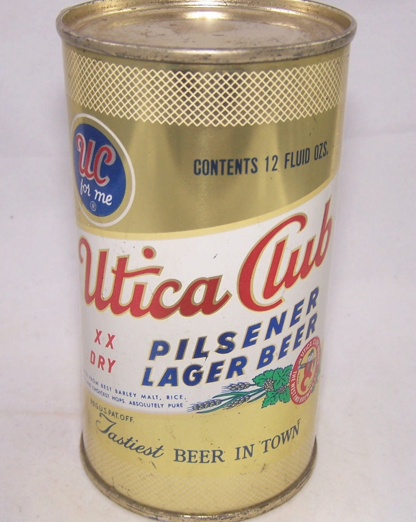Utica Club Pilsener Lager Beer, USBC 142-24, Grade 1/1+ Sold on 06/15/17