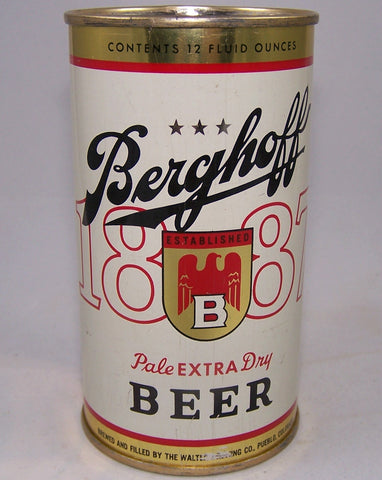 Berghoff Pale Extra Dry Beer, USBC 36-04, Grade 1/1+ Sold on 12/29/16
