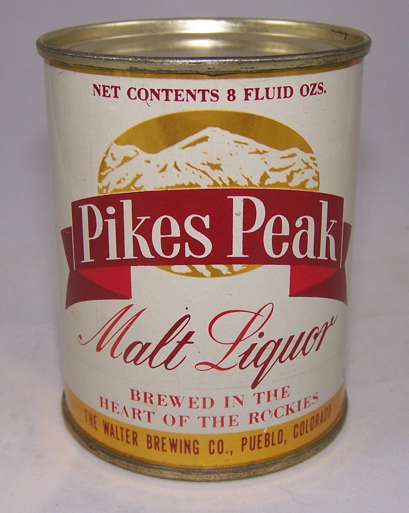 Pikes Peak Malt Liquor 8 ounce, USBC 242-7, Grade 1 to 1/1+Sold on 10/20/15