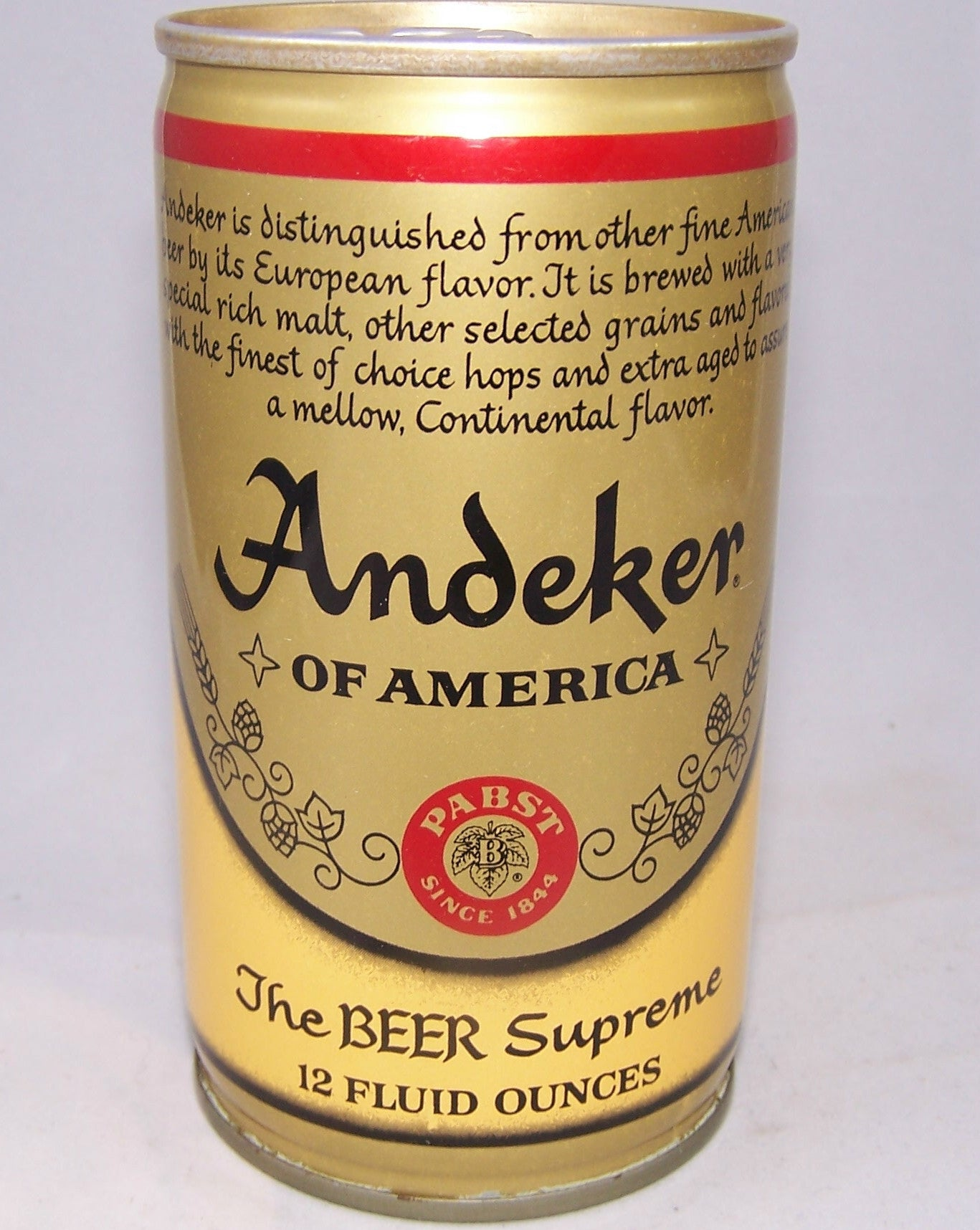 Andeker Of America Beer, Test Can, USBC II N.L Grade A1+ Traded