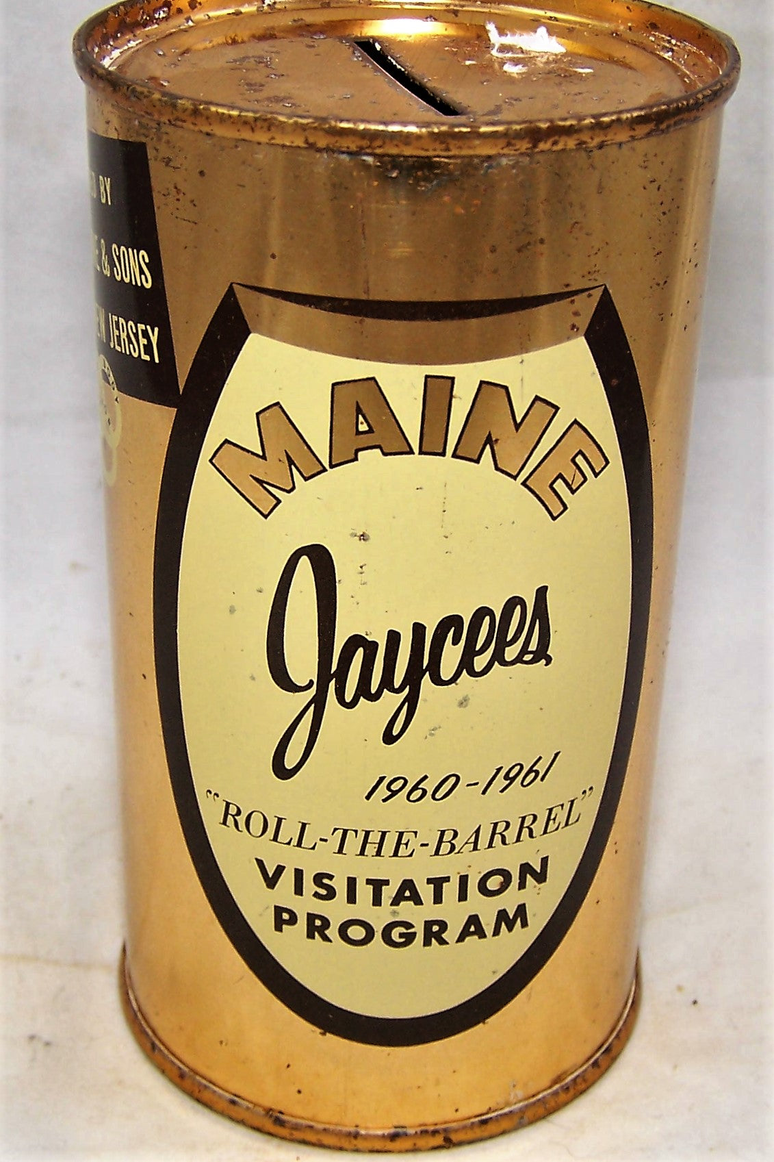 "Ballantine Maine Jaycees 1960-1961, ""Roll-The-Barrel"" USBC NL Grade 1"