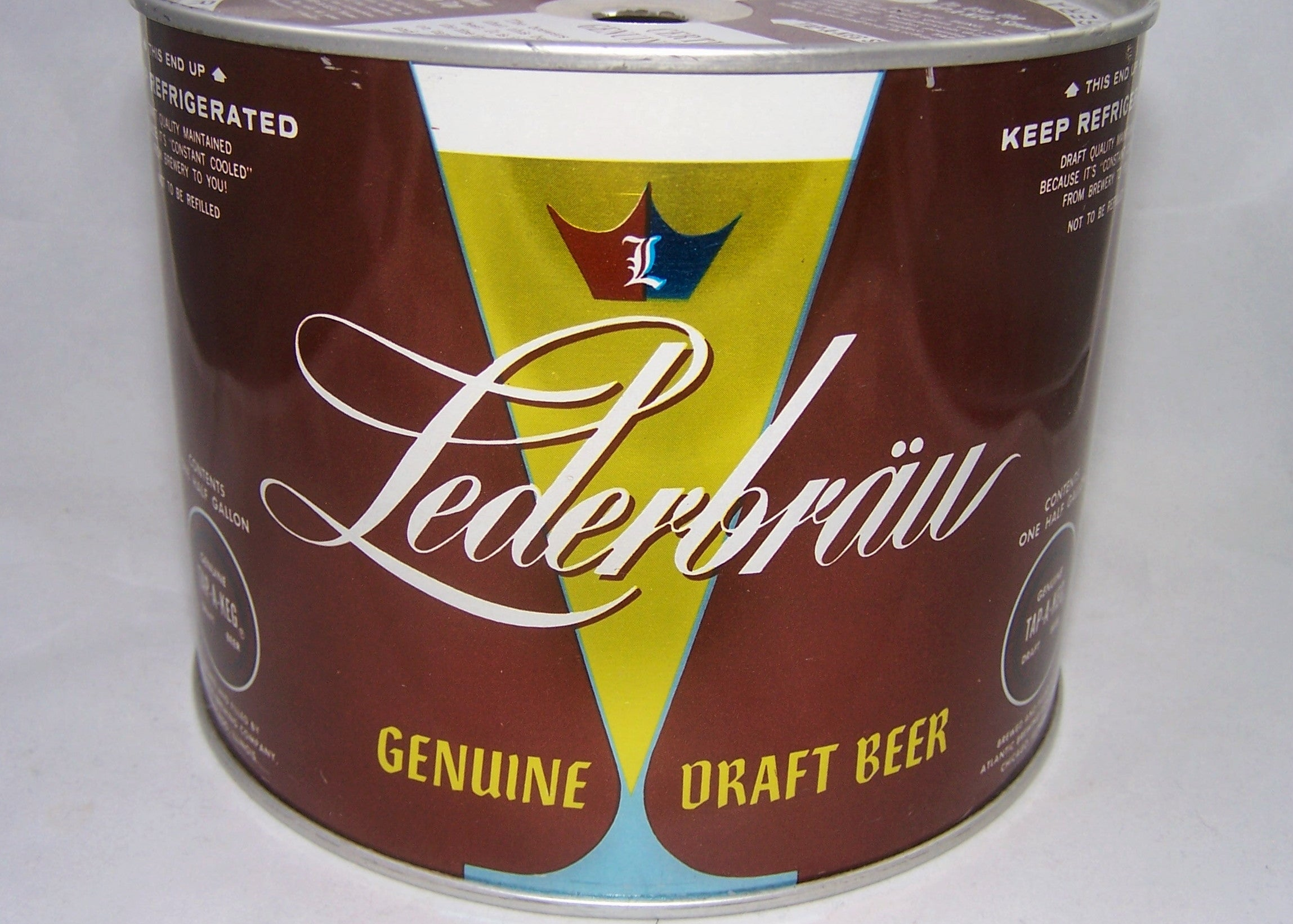 Lederbrau Half Gallon, USBC 245-10, Grade 1/1+ Sold on 07/01/17