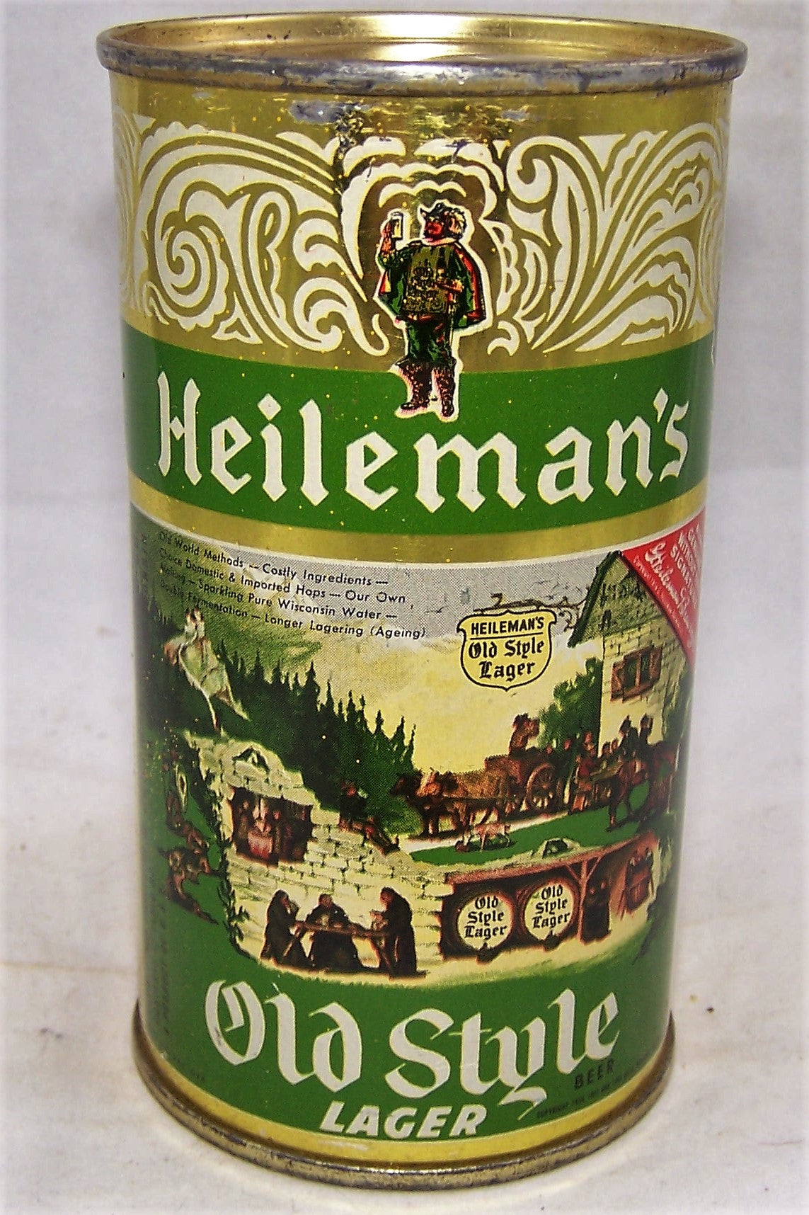 Heileman's Old Style Lager Beer, USBC 108-14, Grade 1/1+ Sold on 10/11/19