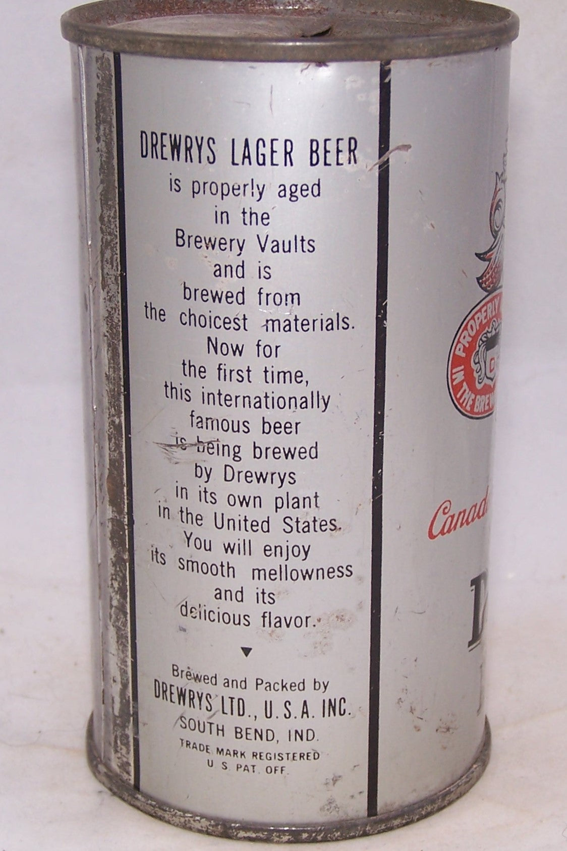 Drewrys Lager Beer Opening Instruction, USBC 55-32, Grade 1-/2+