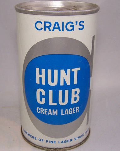 Craig's Hunt Club Cream Lager, Canadian Ziptop, Grade A1+Sold on 10/14/15
